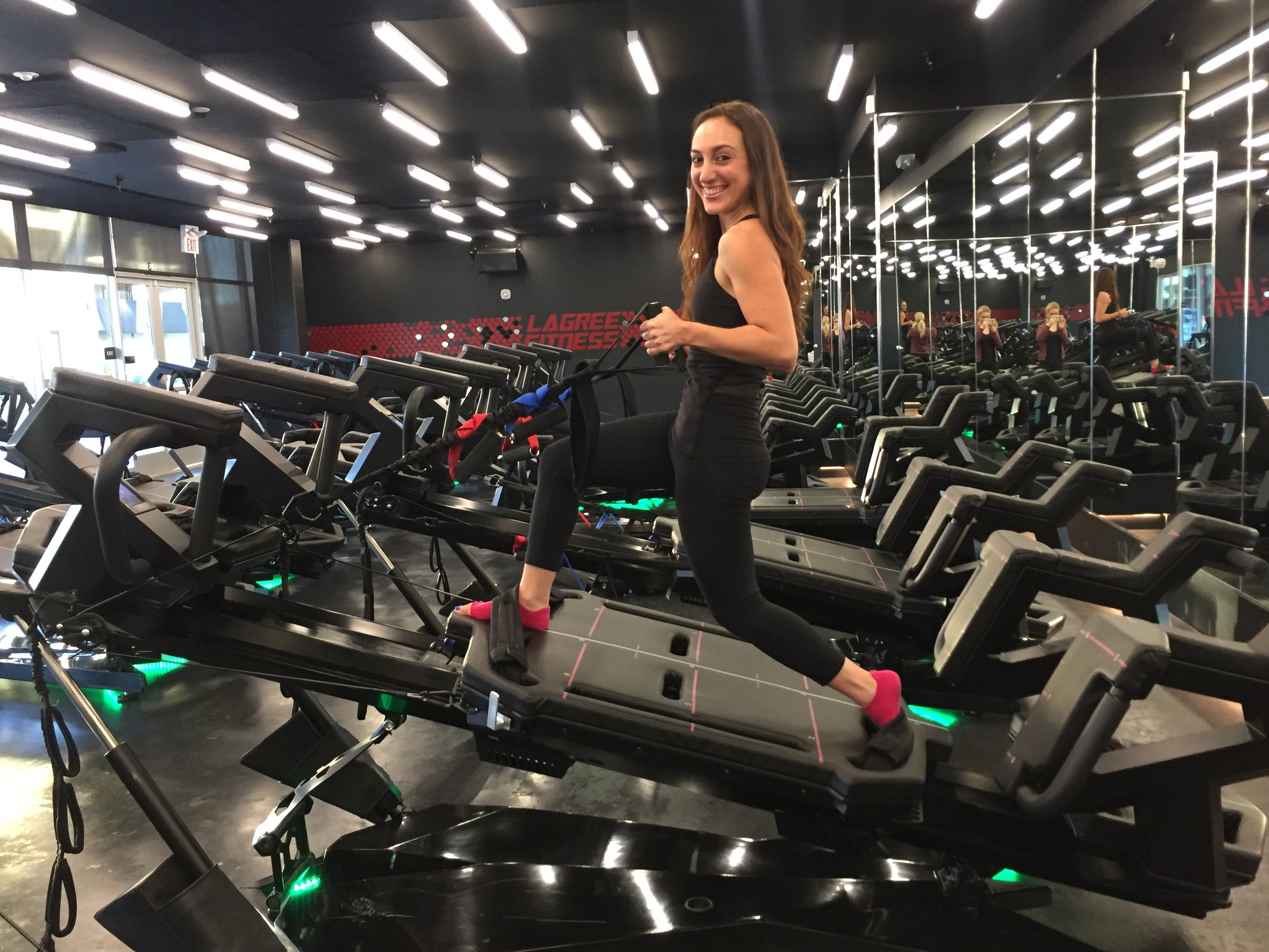 Brielle Galekovic of The Gilded Bellini at Lagree Fitness Studio