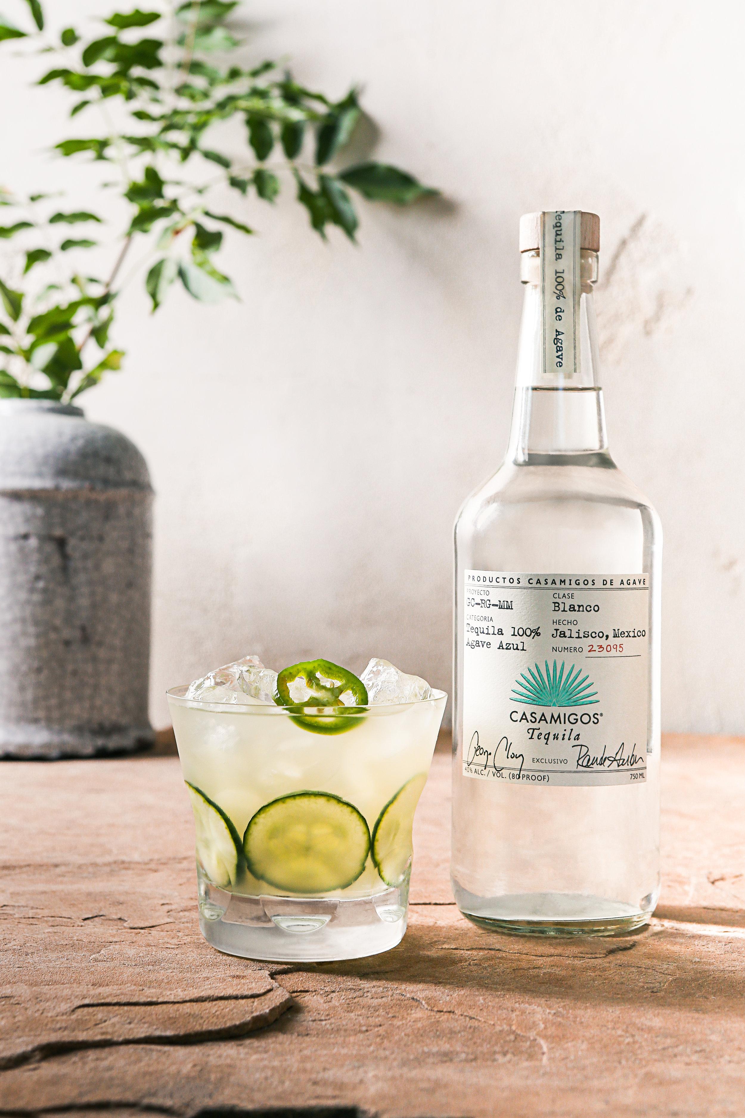 Spicy Cucumber Margarita Casamigos Tequila