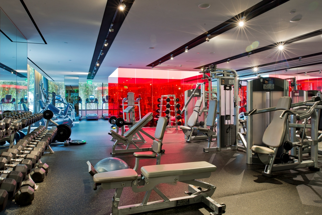 Fitness Center at Sofitel Hotel Los Angeles at Beverly Hills