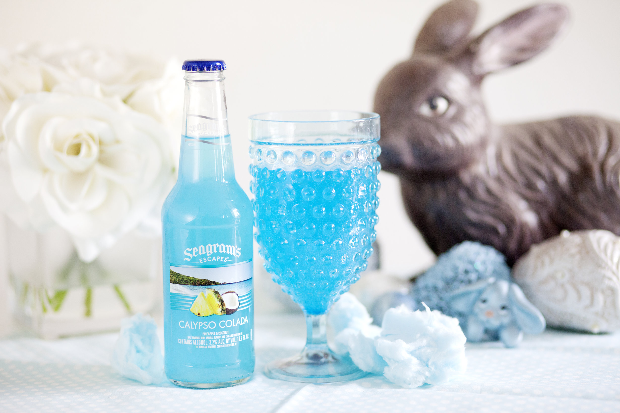 Seagram's Escapes Easter Cocktails Calypso Colada on The Gilded Bellini