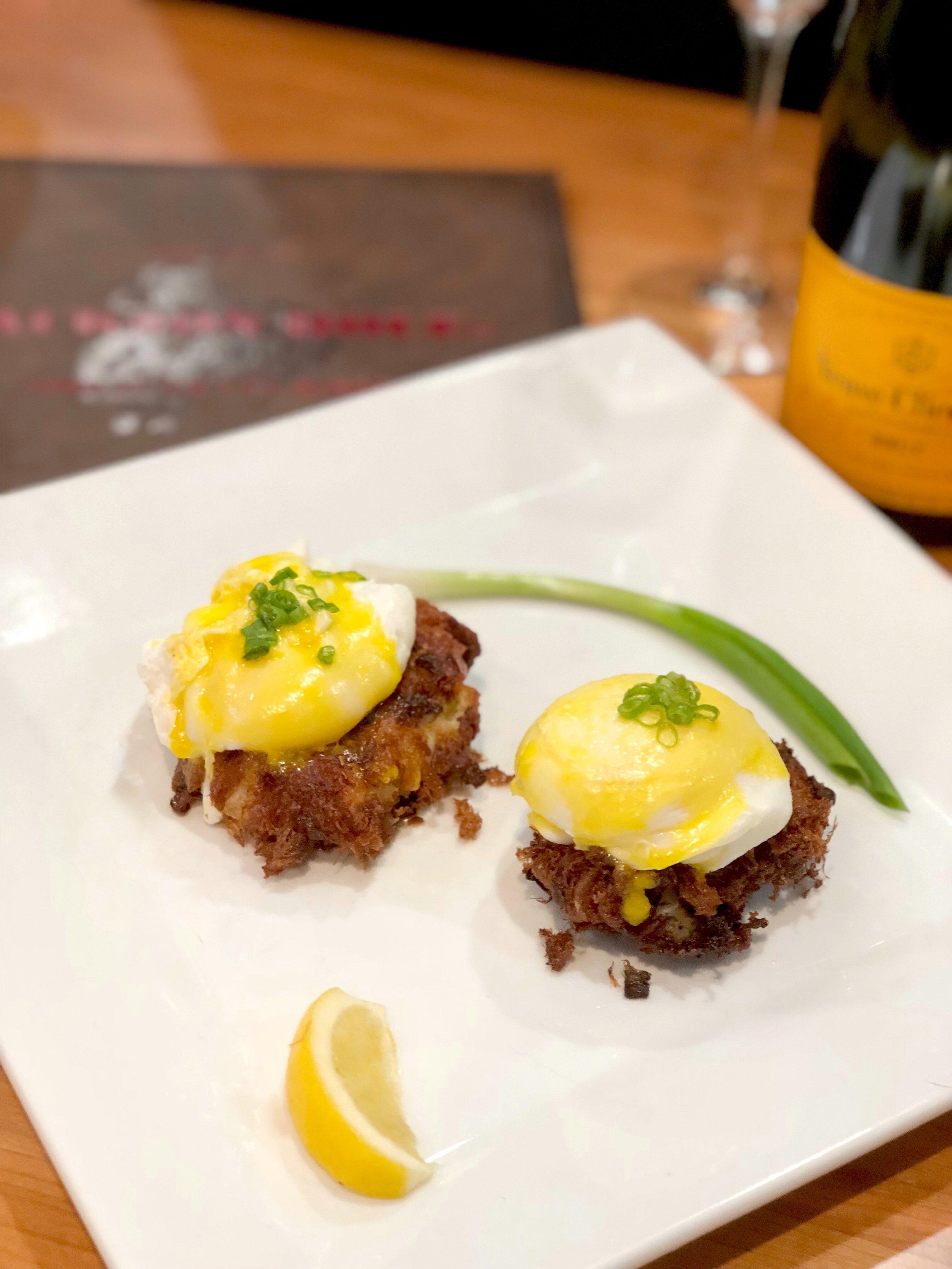 Jackson Hole Crabcake Eggs Benedict