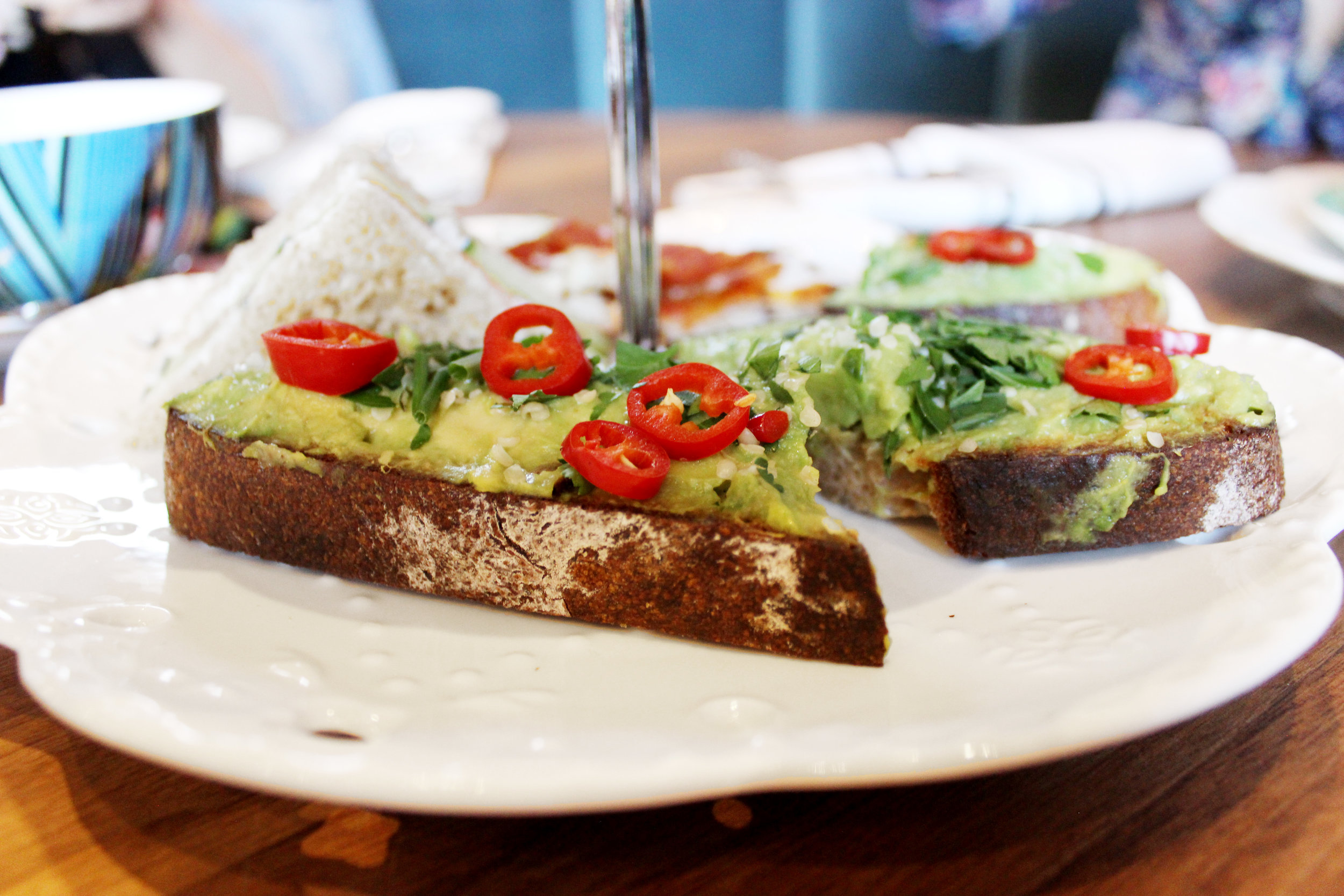 Avocado toast at Harvey at The Williamsburg Hotel