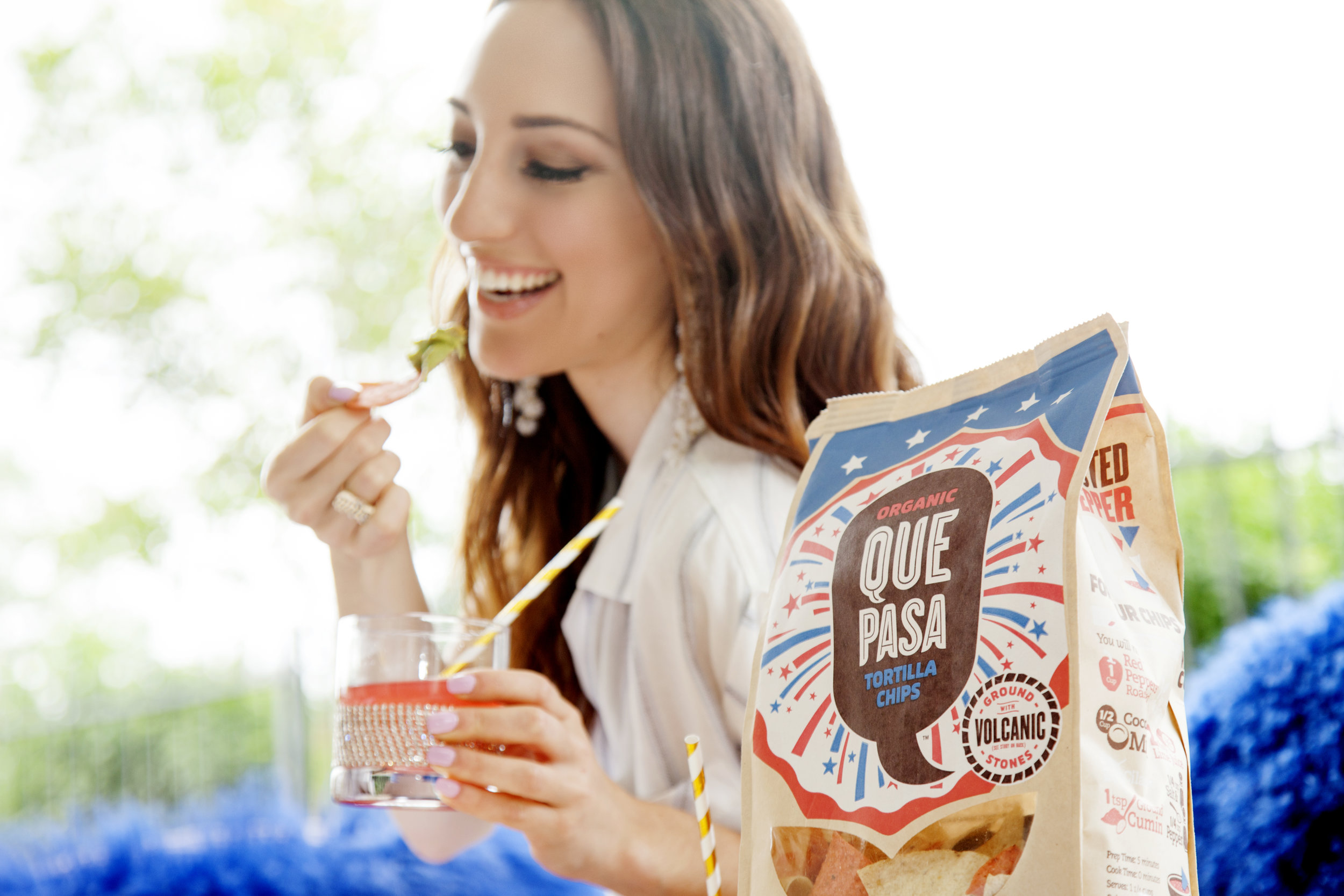 Brielle Galekovic of The Gilded Bellini with Que Pasa Chips