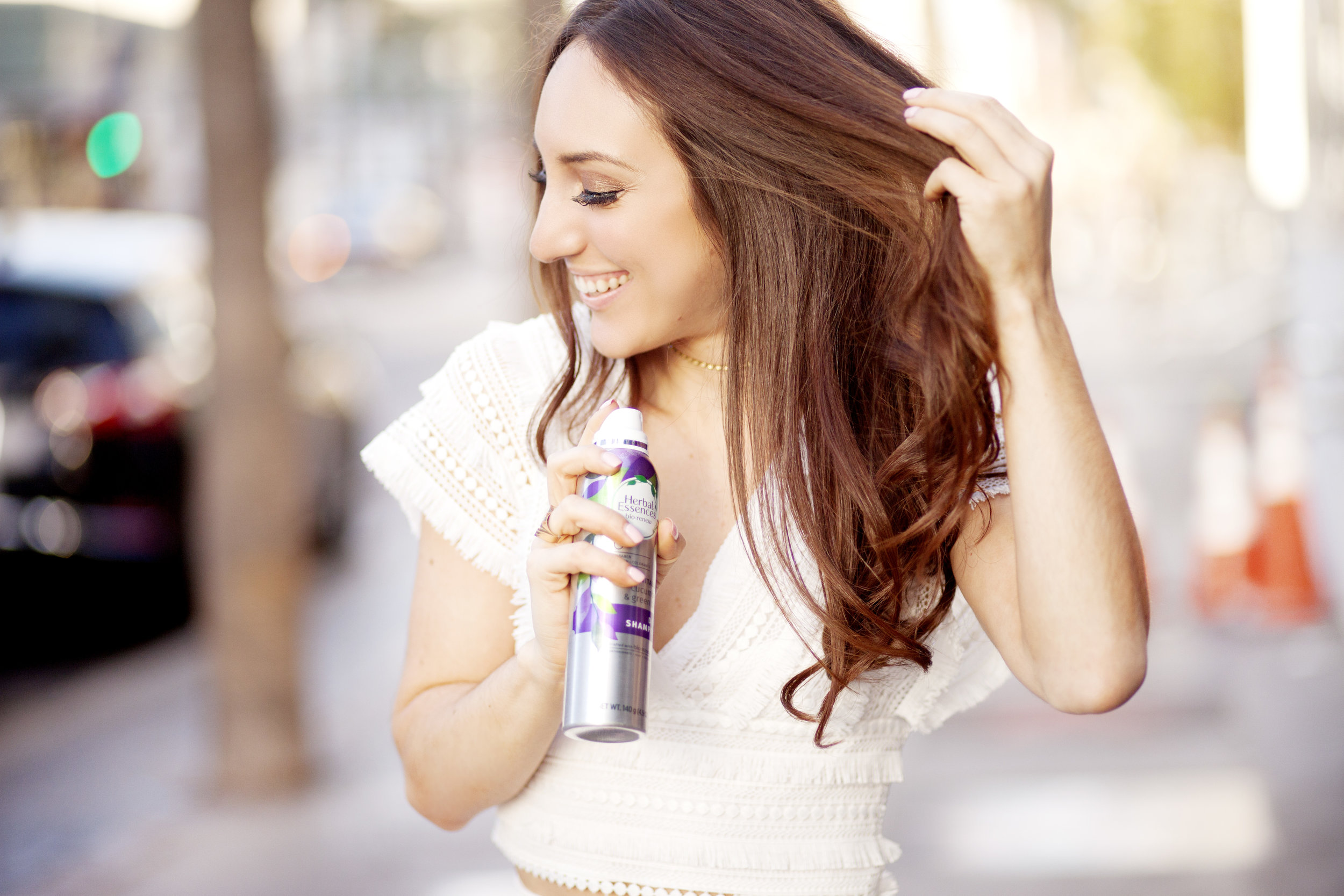 Brielle Galekovic of The Gilded Bellini with Herbal Essences