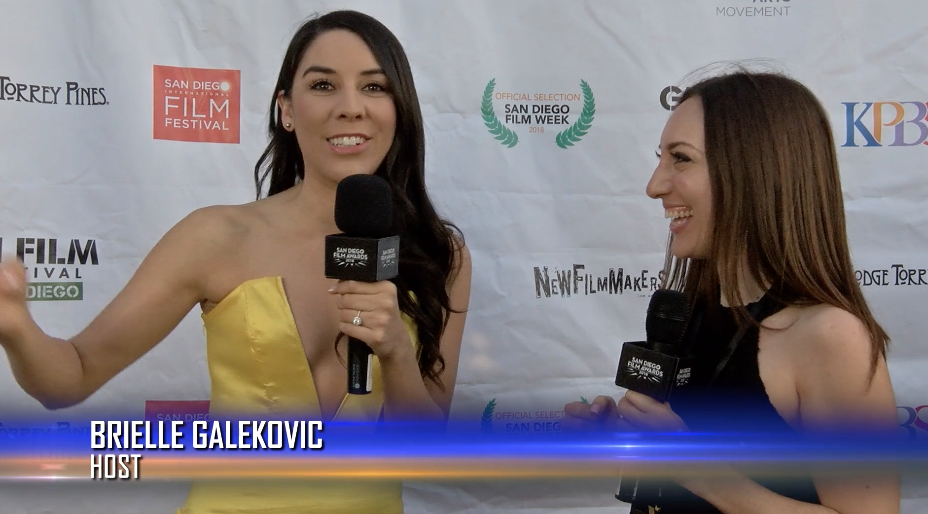 Brielle Galekovic and Erika De La Cruz at San Diego Film Awards