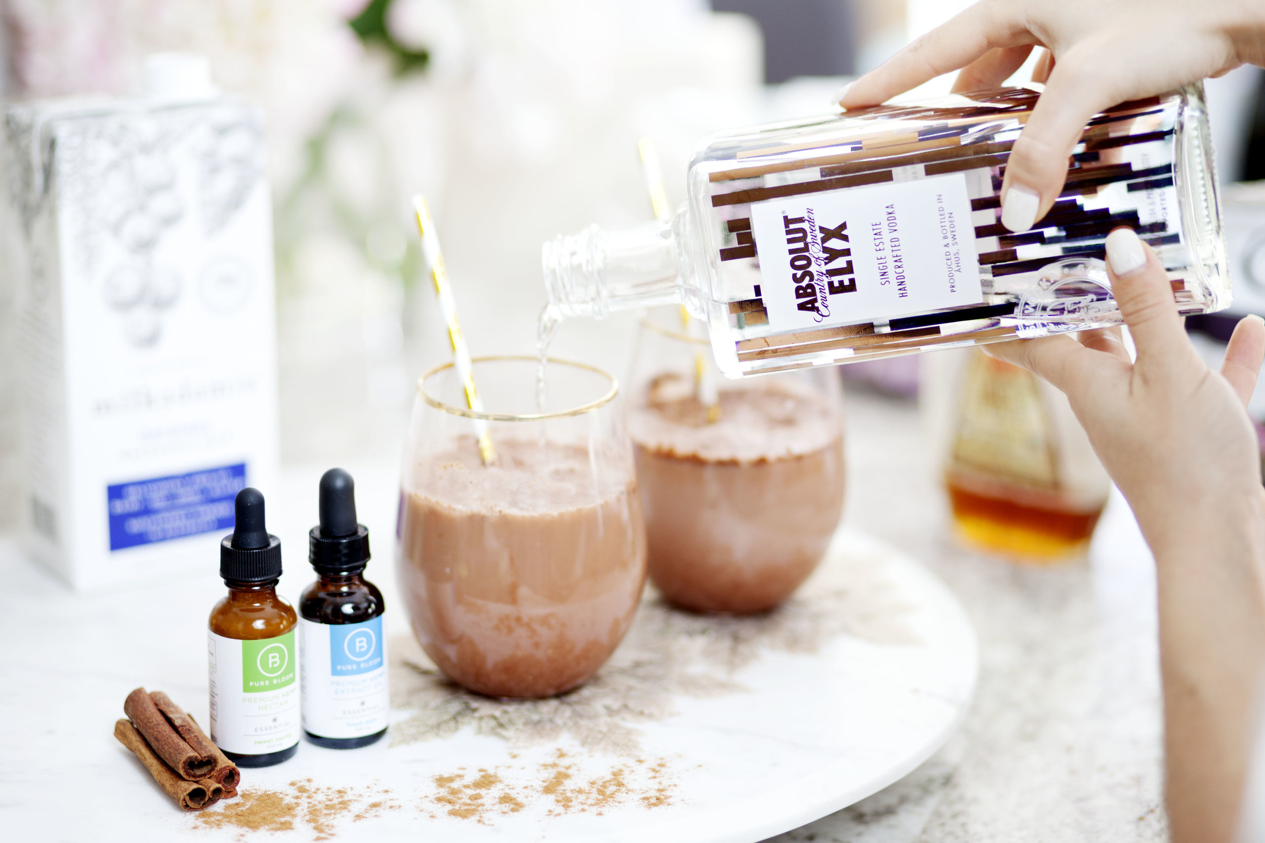 Sweet Vanilla Mint Cacao CBD Cocktail