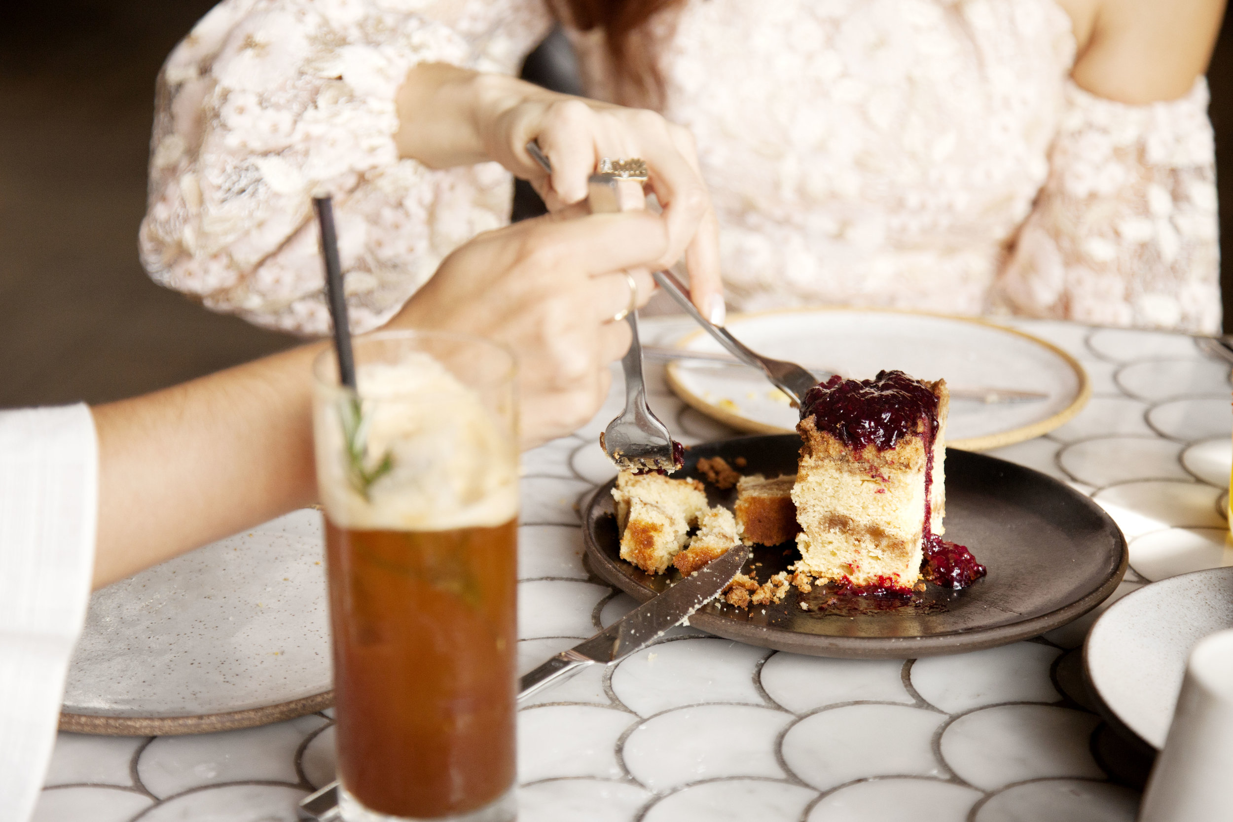 Coffee Cake at Norah West Hollywood - The Gilded Bellini