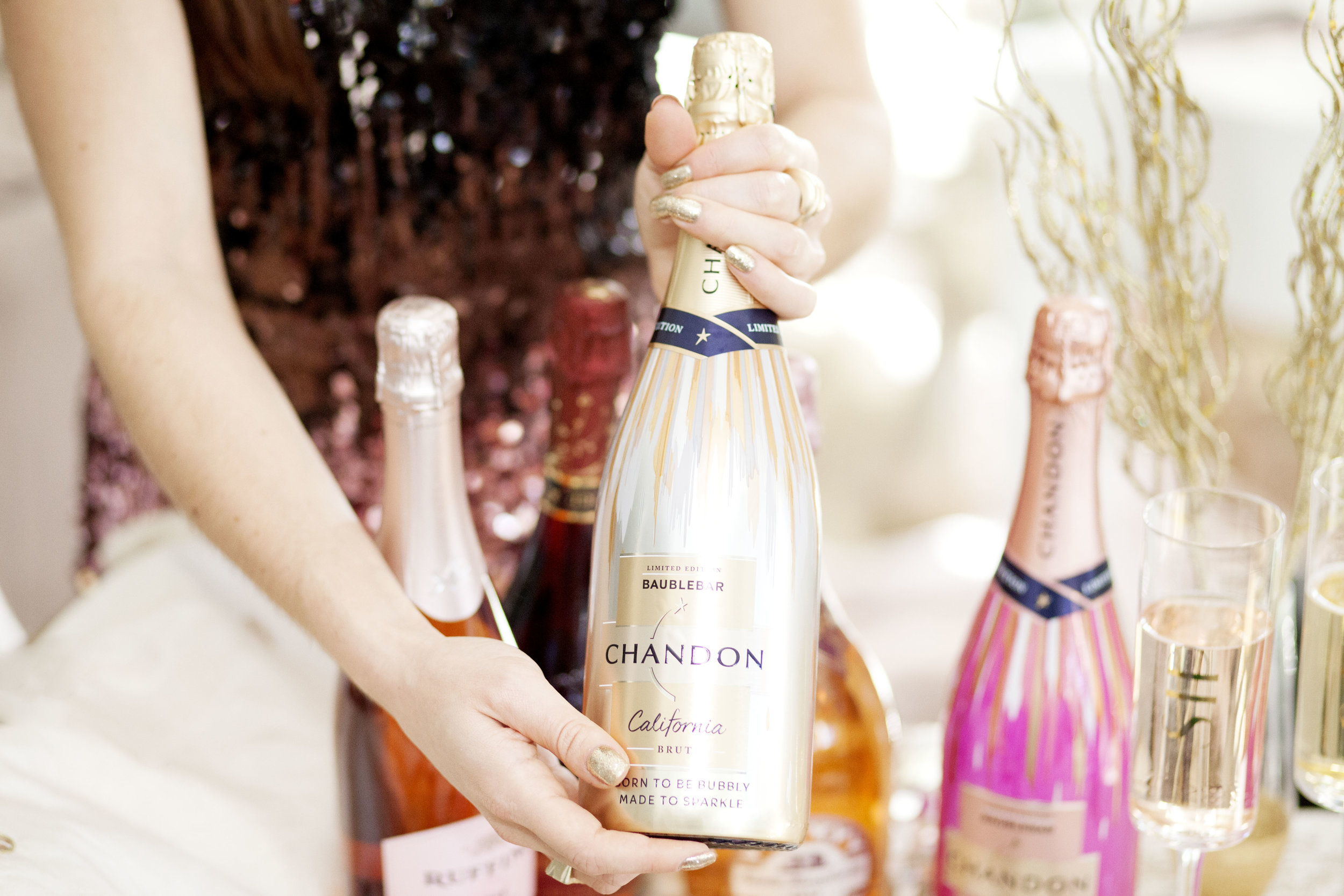 Chandon x BaubleBar Brut Champagne - The Gilded Bellini