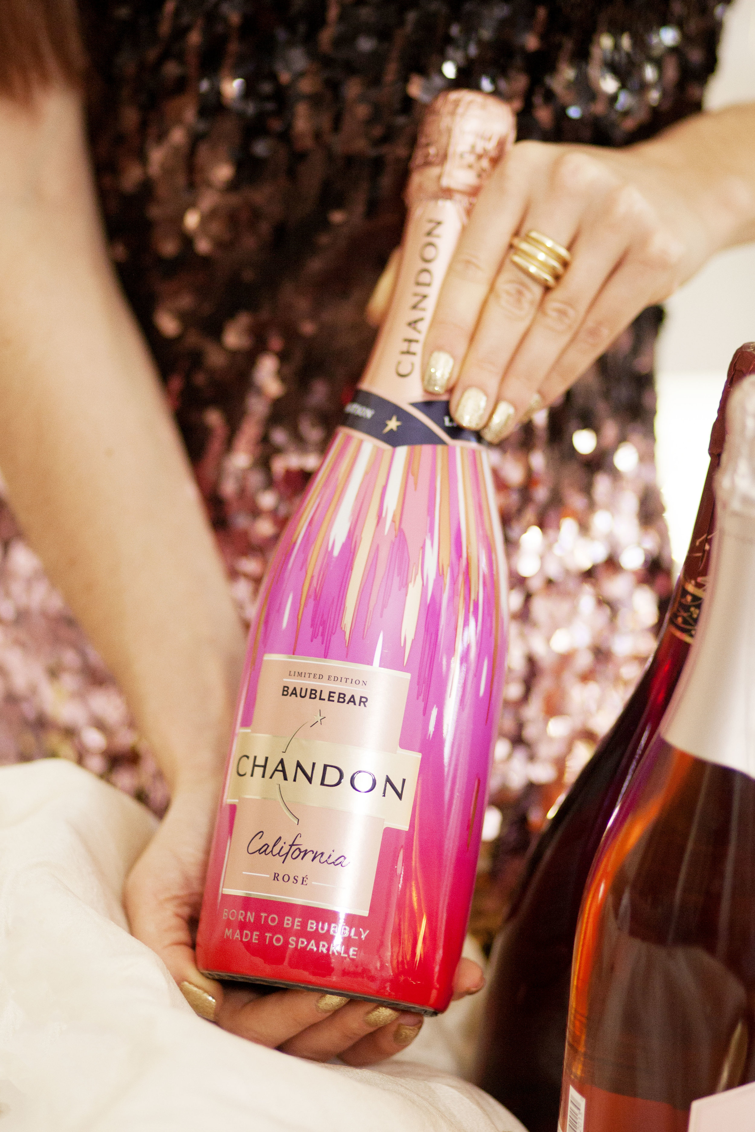 Chandon x BaubleBar Sparkling Rosé - The Gilded Bellini