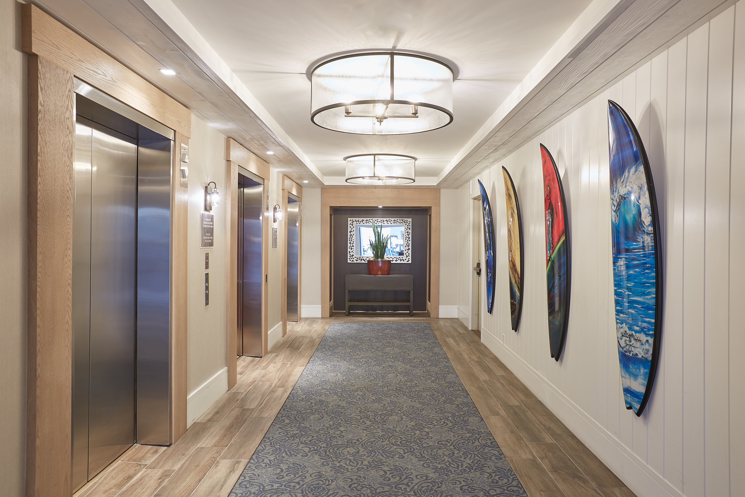 The Waterfront Beach Resort Elevator Lobby
