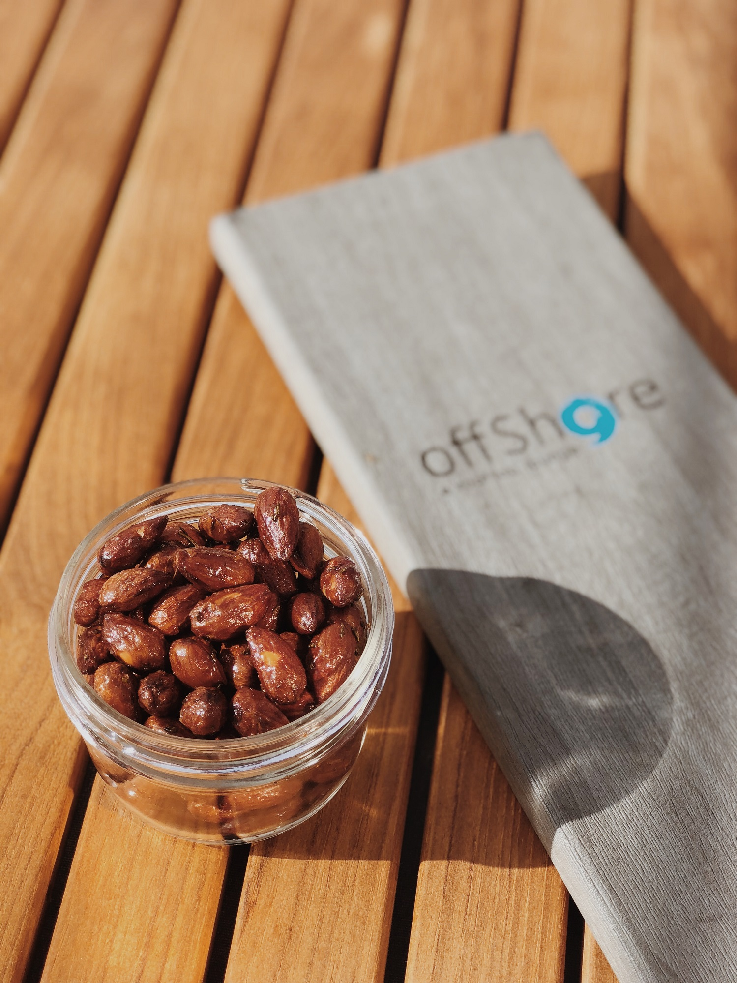 Duck Fat Roasted Almonds at Offshore 9 Lounge