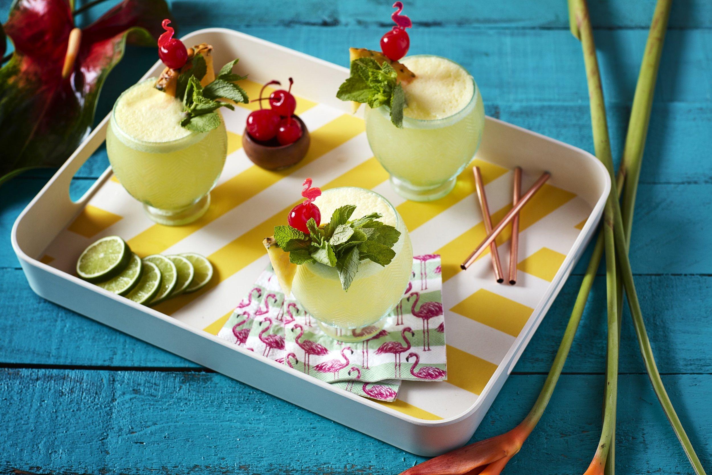 Malibu Lime Escape Cocktail - The Gilded Bellini