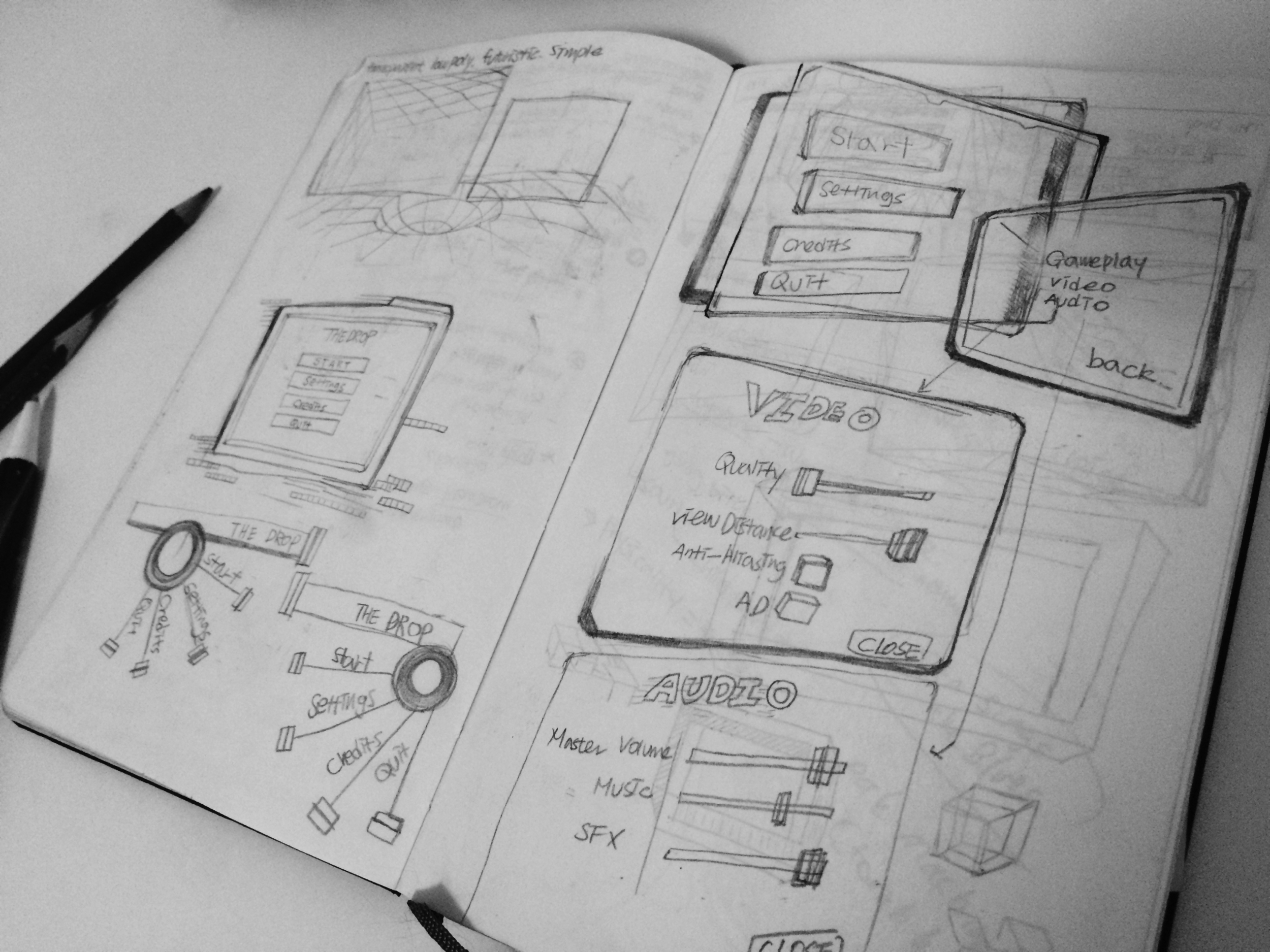 Menu UI sketch