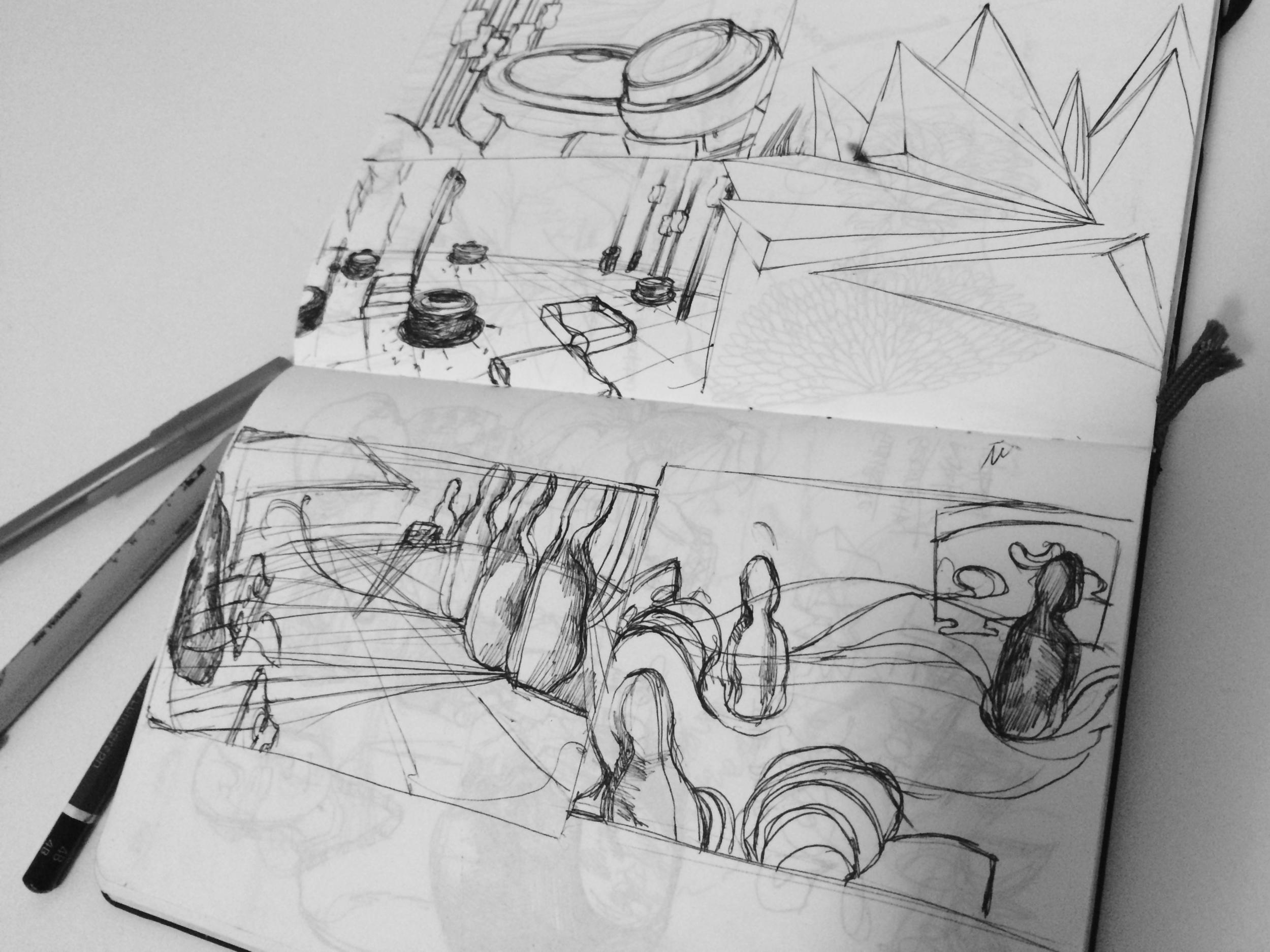 Environment concept art sketch