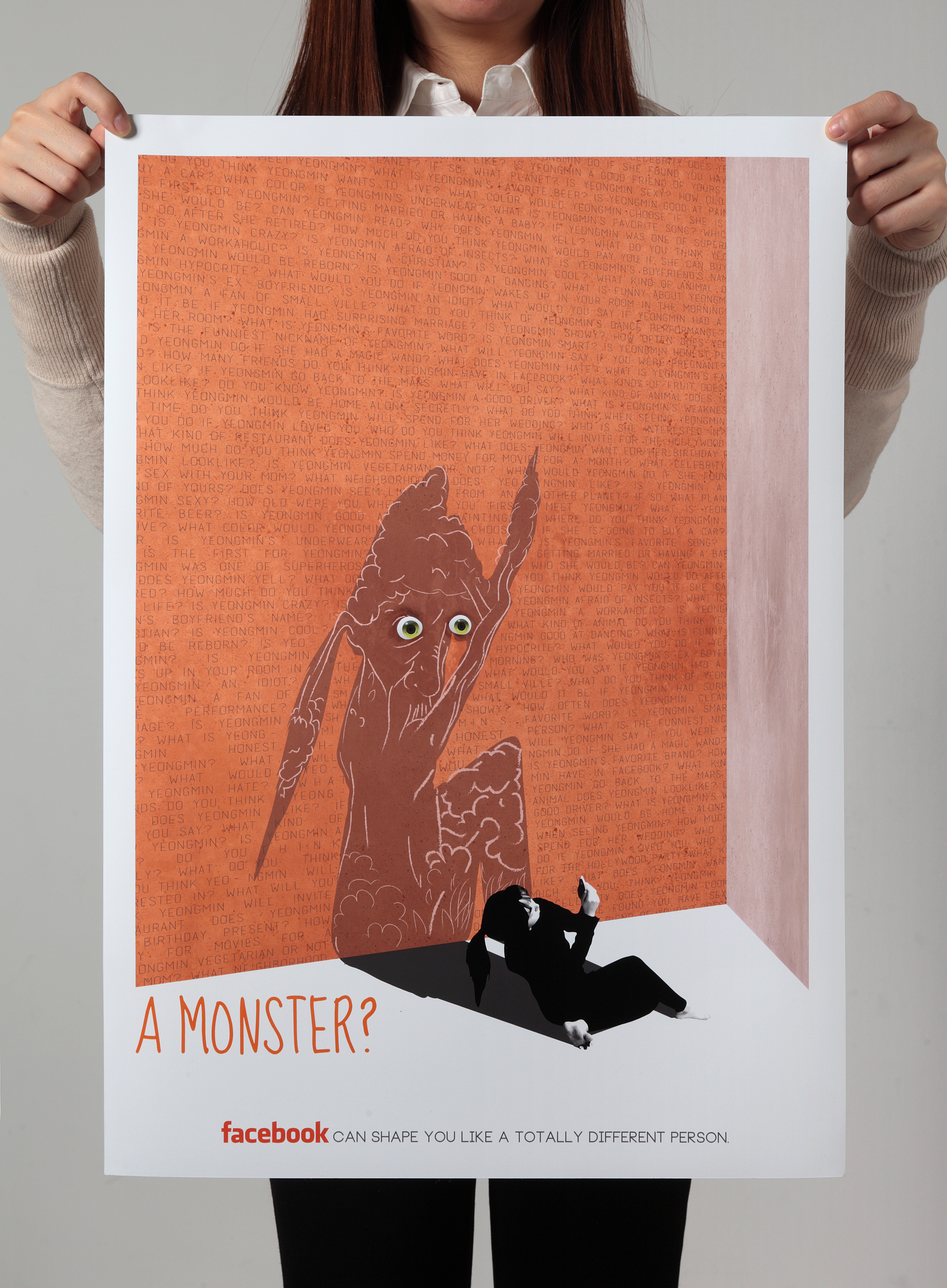 A Monster? No.3 archival print on paper, 16.5 x 20.6 inch
