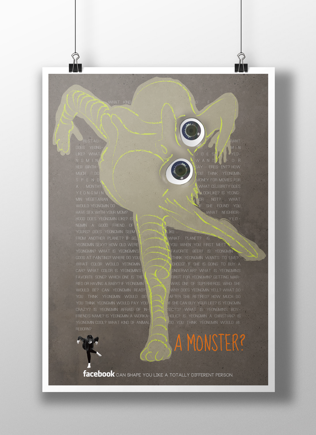 A Monster? No.3, archival print on paper, 16.5 x 20.6 inch