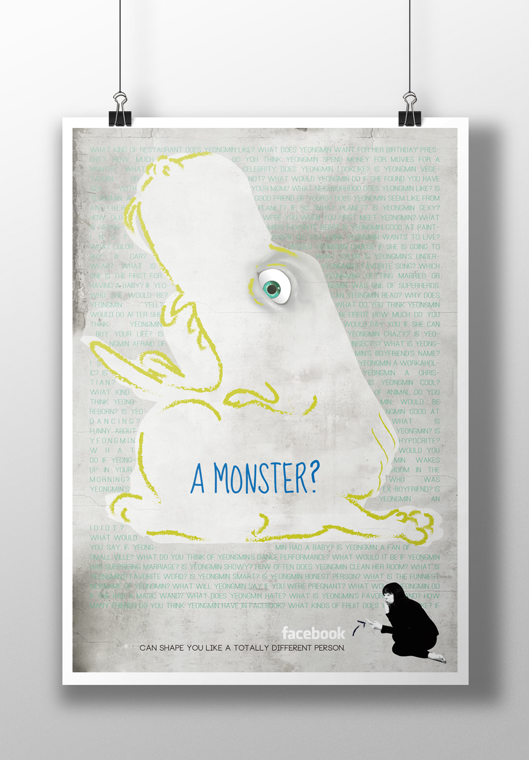 A Monster? No.2, archival print on paper, 16.5 x 20.6 inch