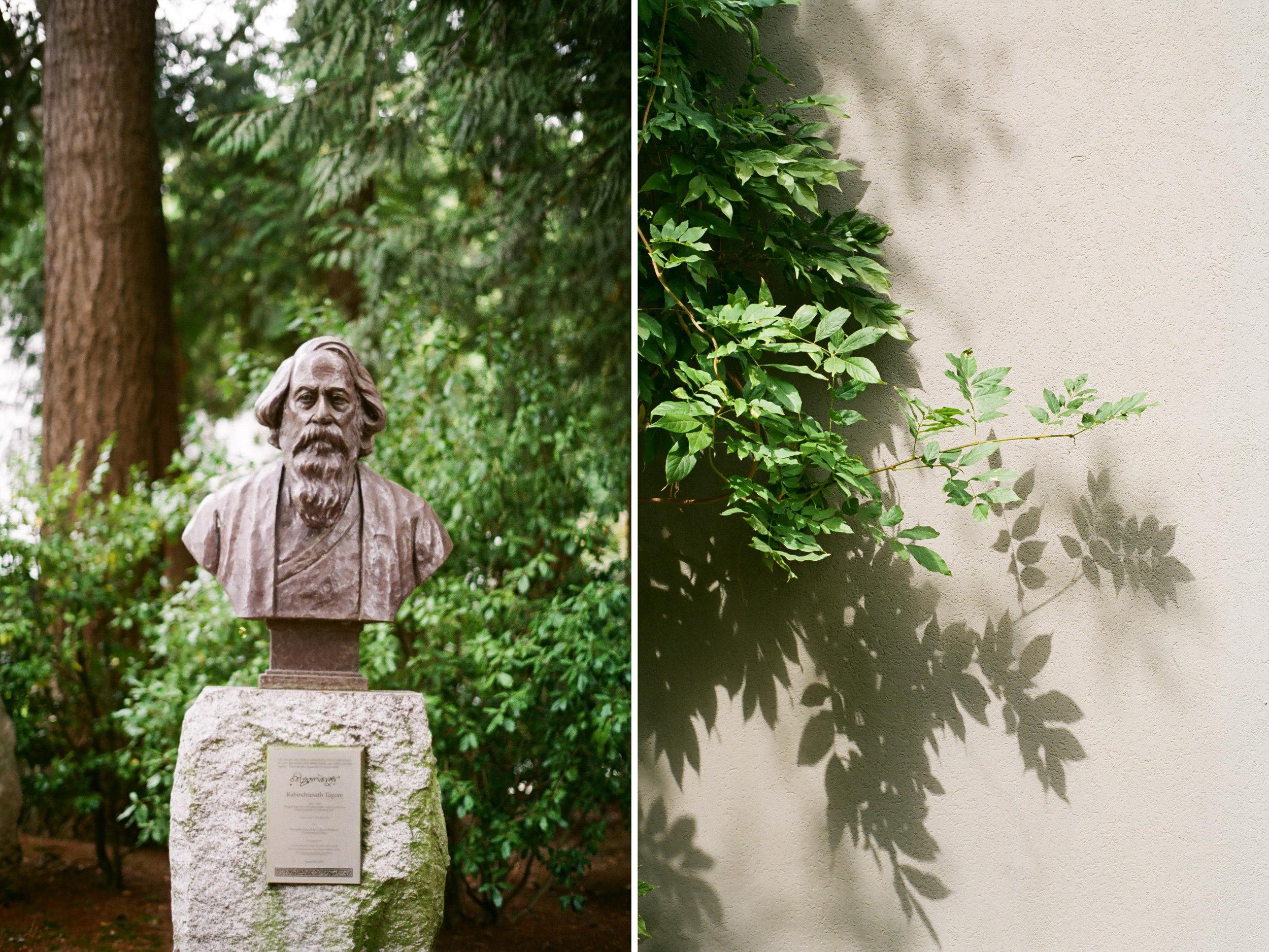 Rabindranath Tagore statue at UBC