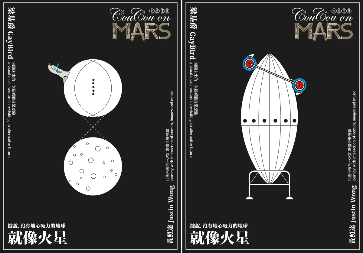Postcard design for the project