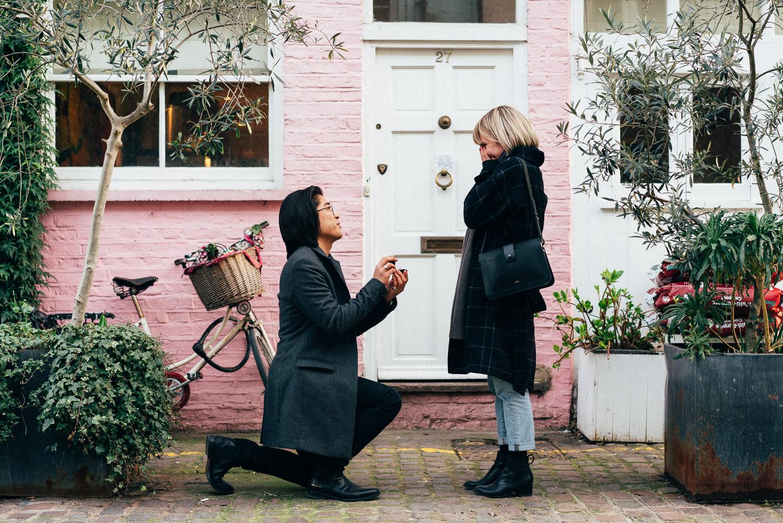 Secret Marriage Proposal, London