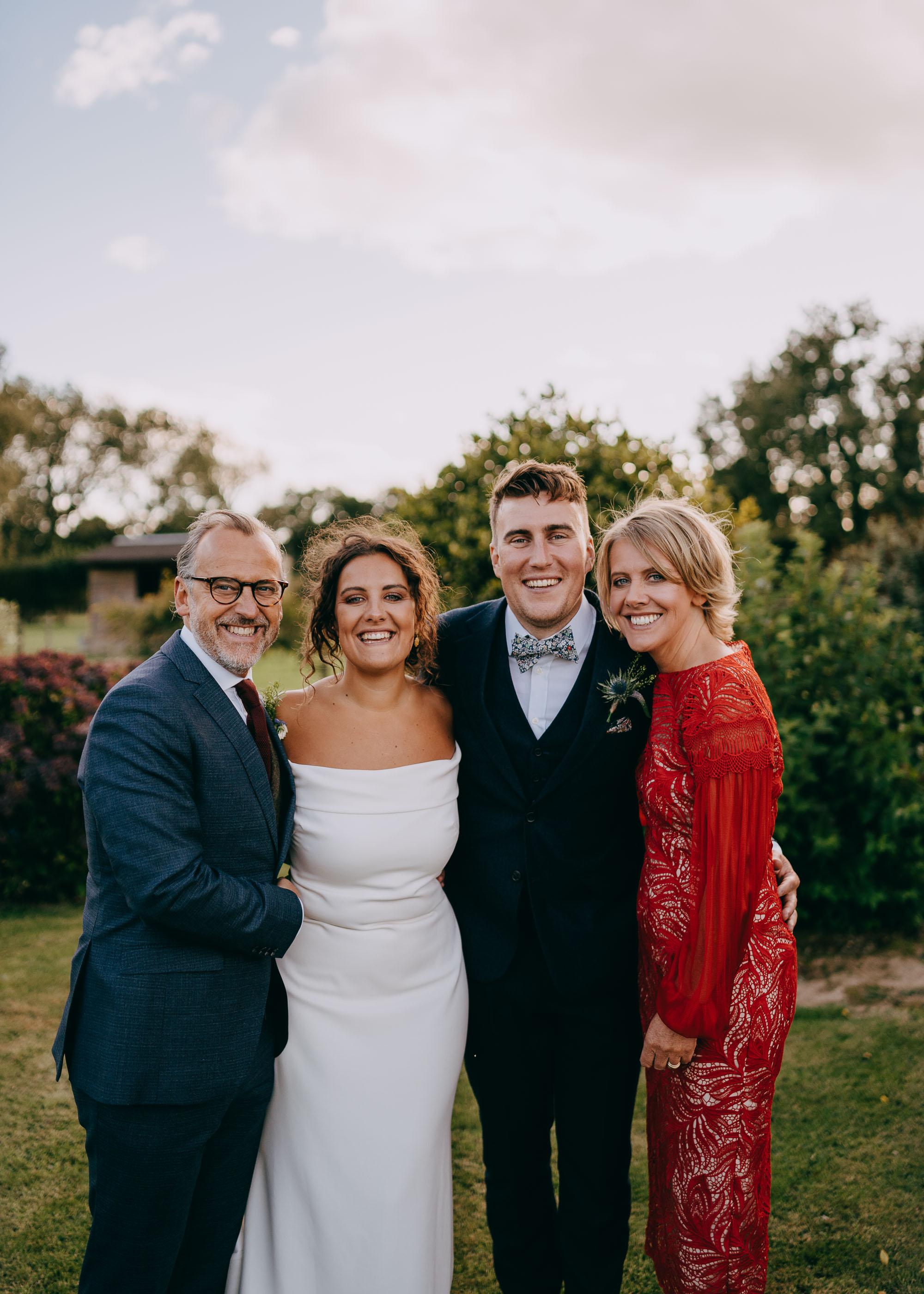 Family Portrait during Canterbury Wedding, Kent