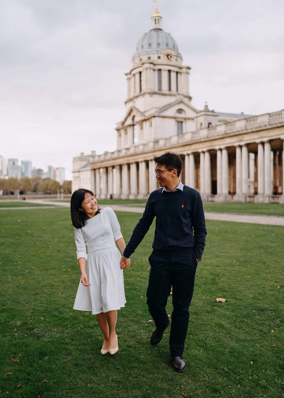 Pre-Wedding photoshoot in Greenwich, London