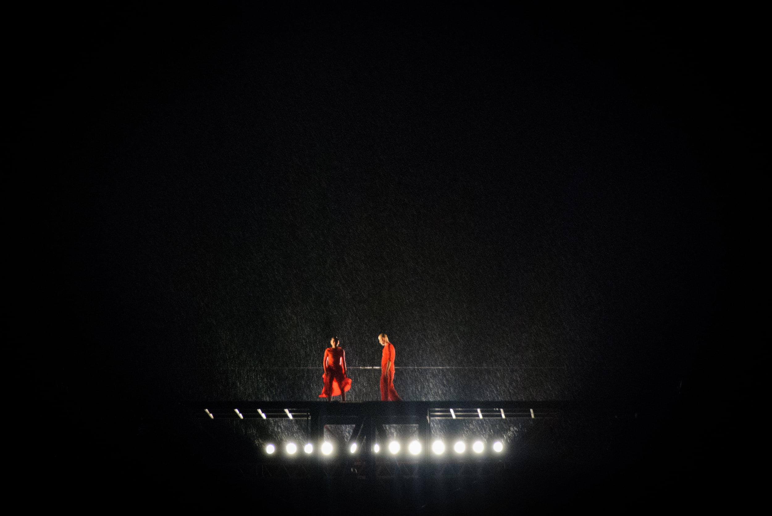 Red in rain