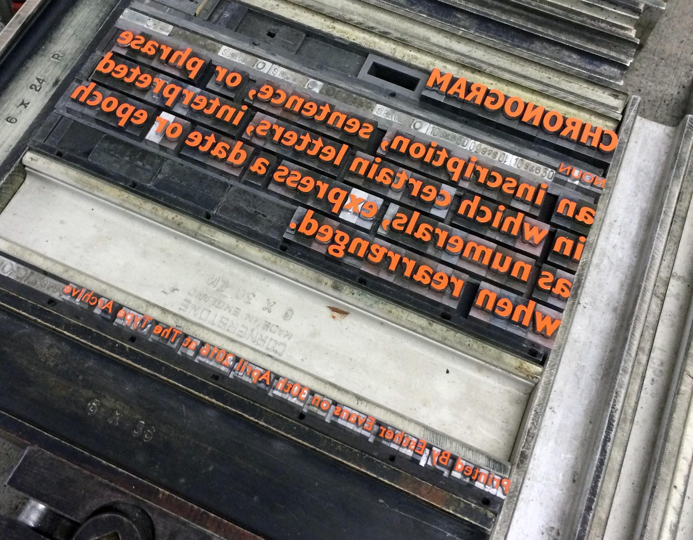Letterpress Workshop. Type Archive. Metal Type. Printing.