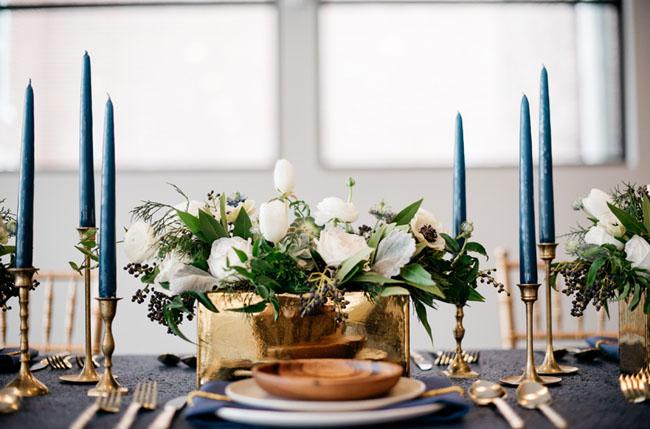 Nyårsinspiration: Mörkblått och guld