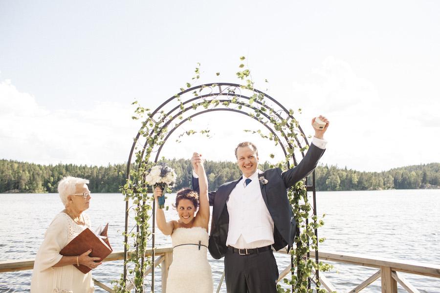 Svensk-Amerikanskt bröllop i Stockholmsidyll: Talia och Olof