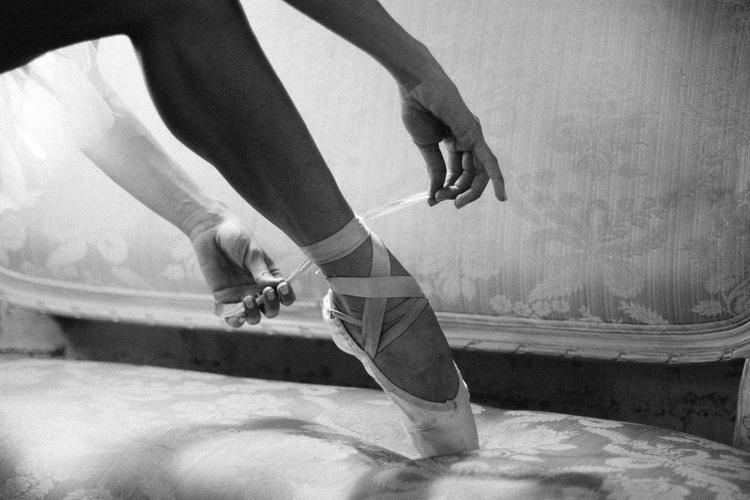 Konstnärlig bröllopsinspiration med balettema.