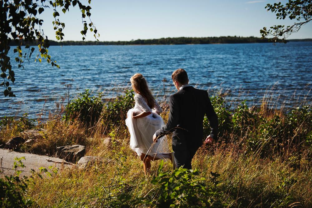 Avskalat och personligt bröllop i Stockolm skärgård