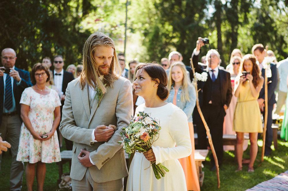 Bohemiskt bröllop på Storholmens koloni