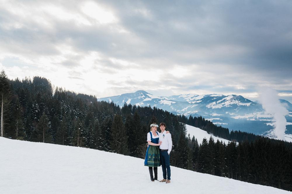 Förlovningsfotografering i Österrikiska alperna