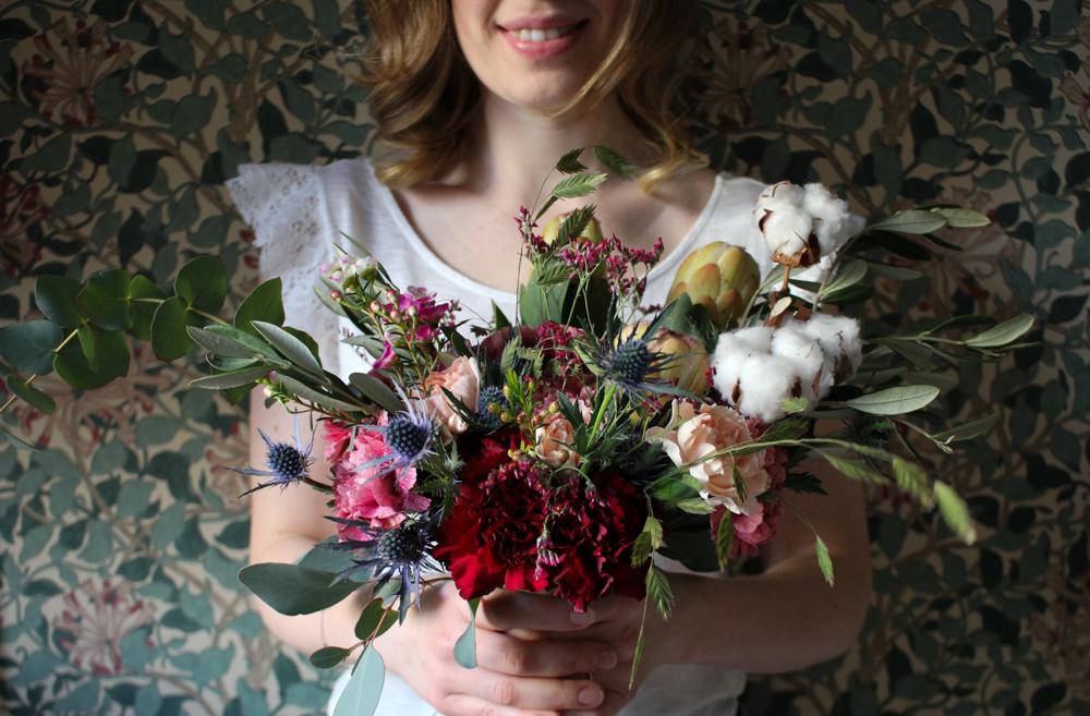 Brudbukett Skillad Floral Design