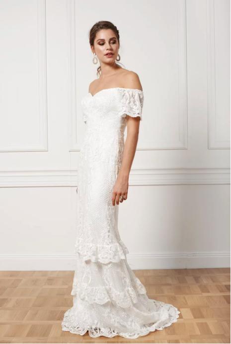 Bohemisk brudklänning , By Malina