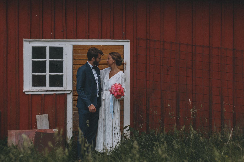 lantligt bröllop+brudklänning
