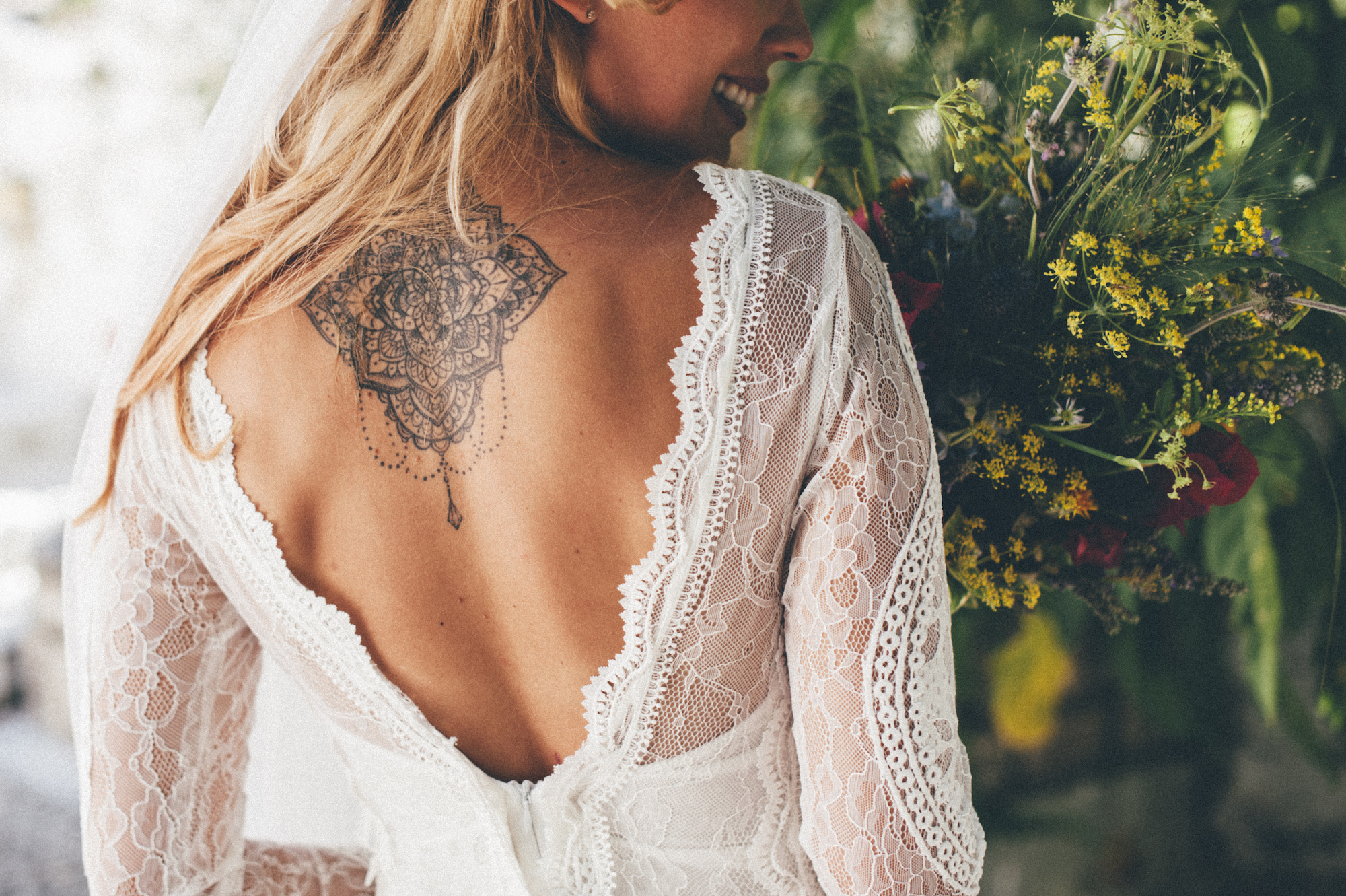 brudklänning bohemisk