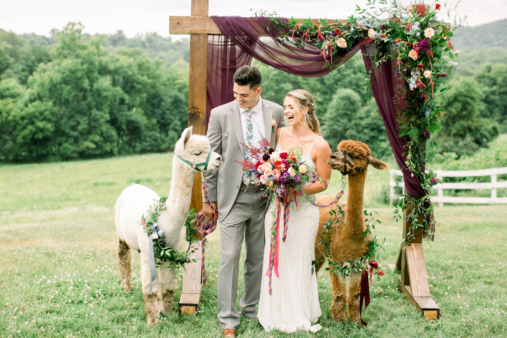 bröllop+bohemisk+brudbukett