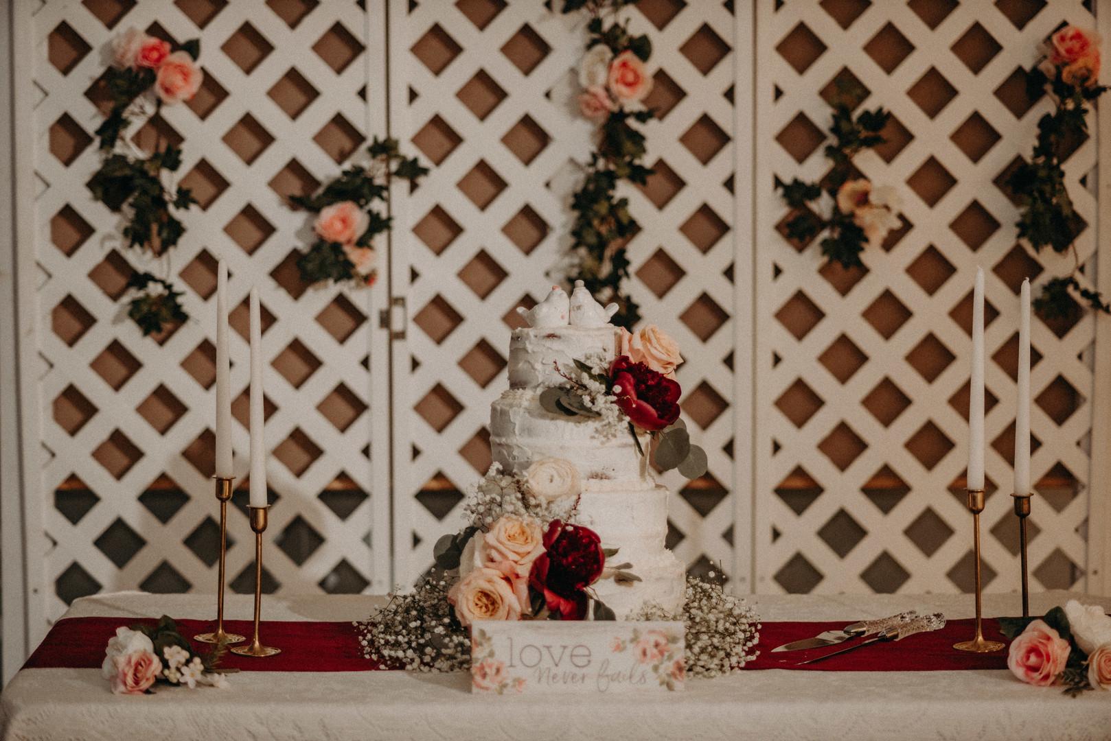 bröllop+vintage+tårta