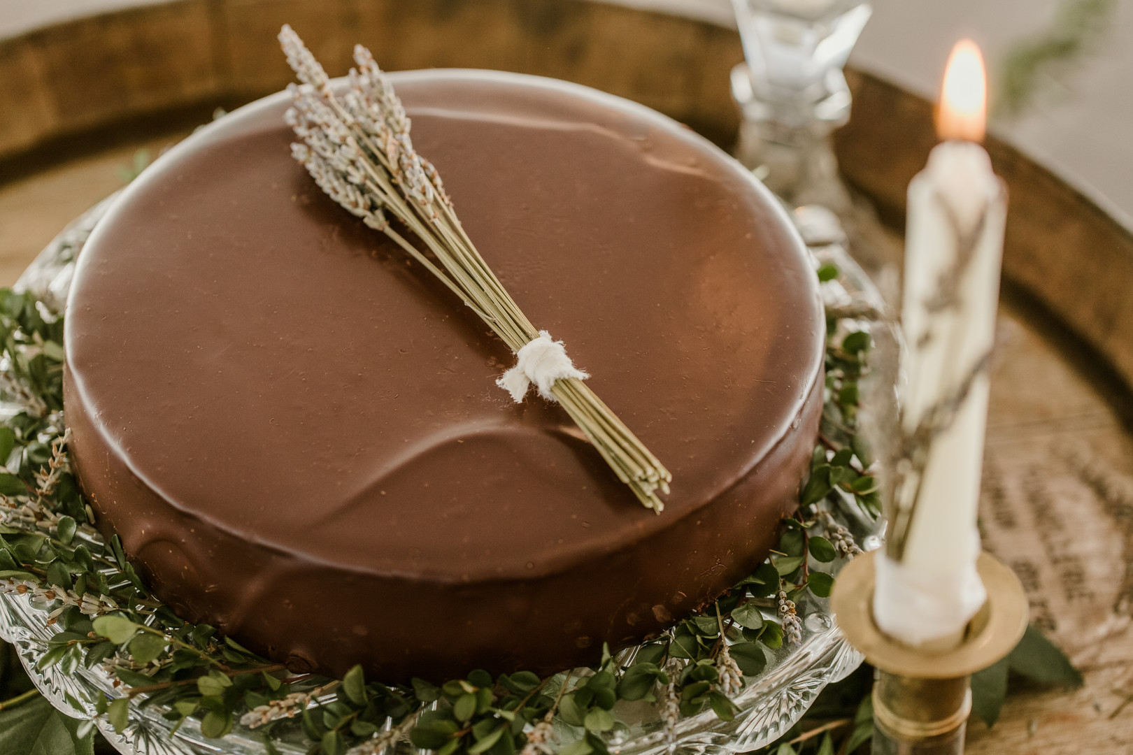 vinterbröllop+boho+tårta