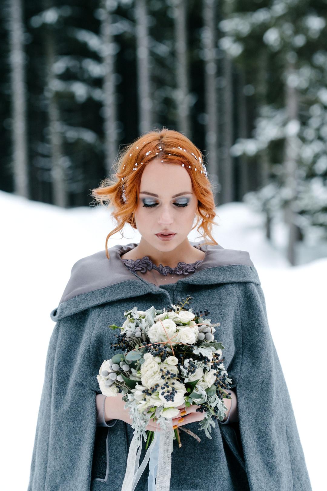 vinterbröllop+natur+brudbukett