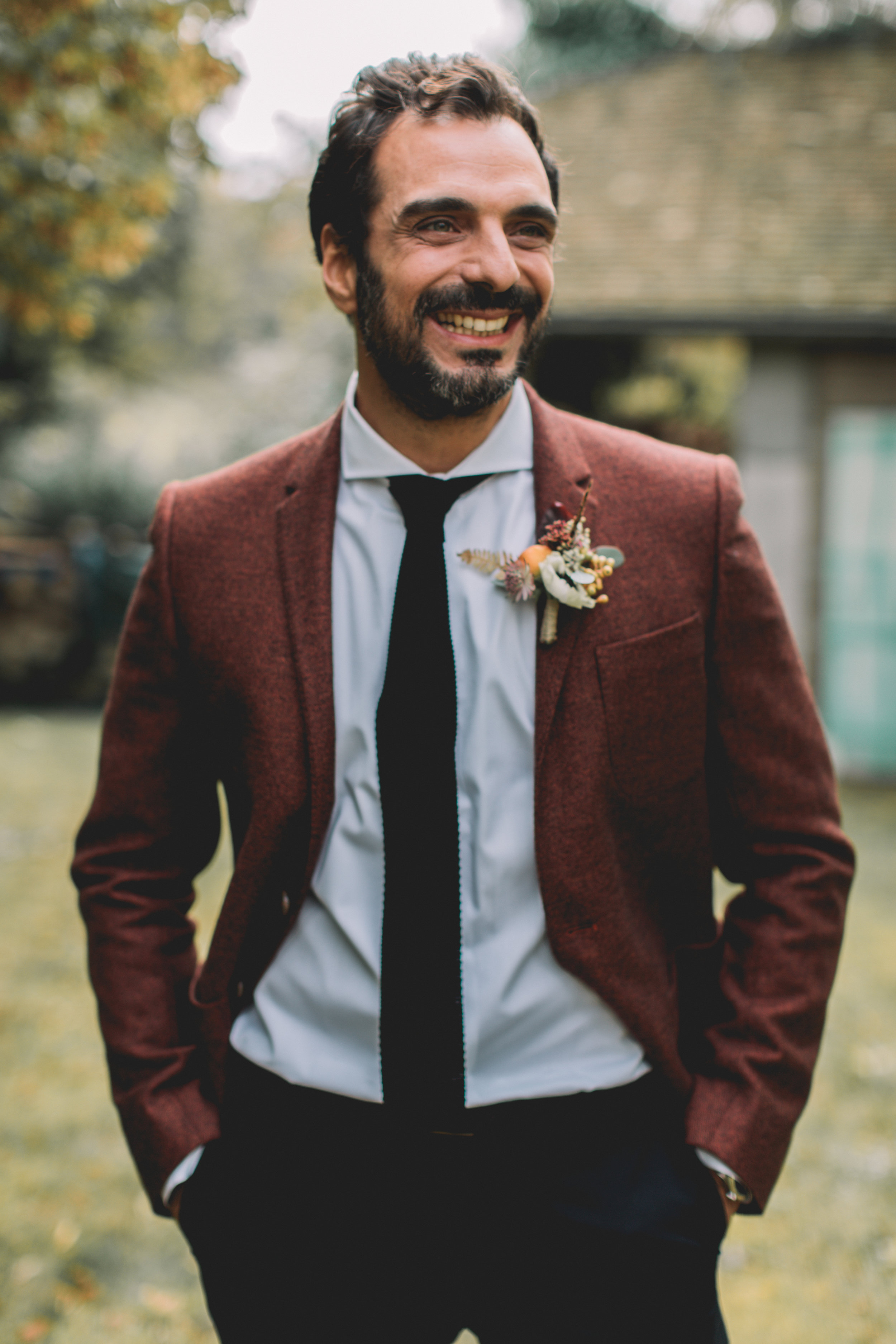 bröllop+boho+höst+kostym+brudgum