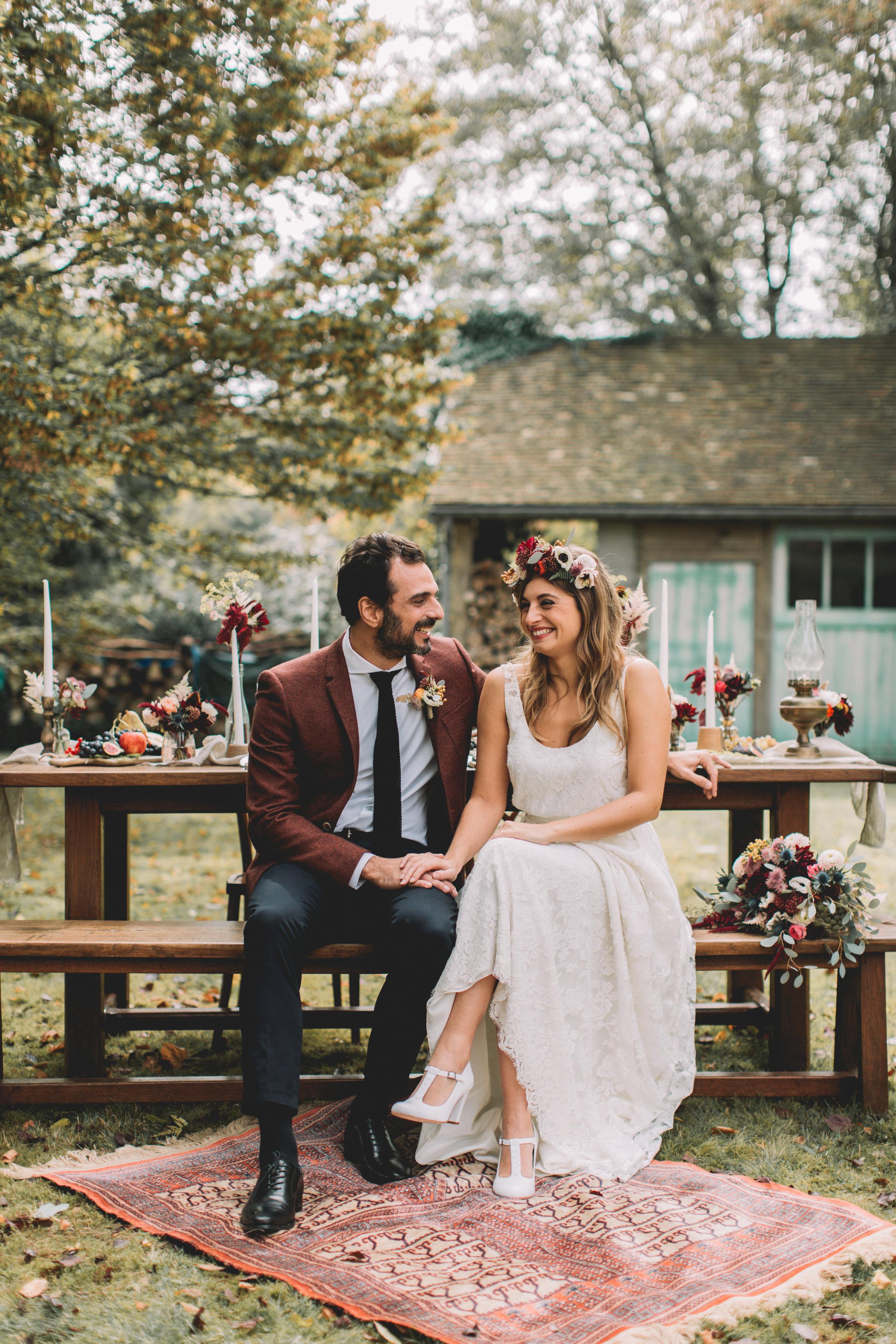 bröllop+boho+höst+dukning