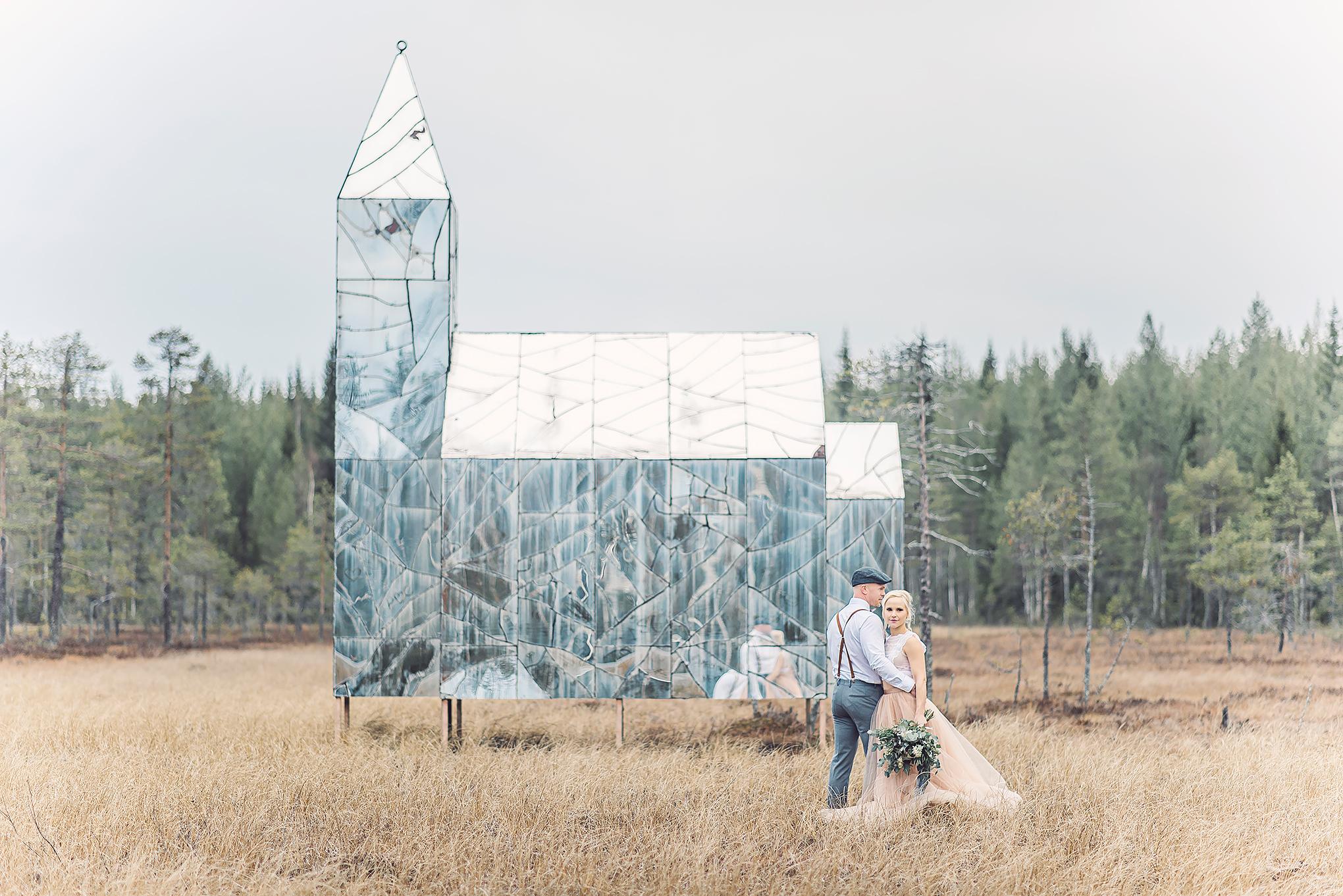 Tyllkjol bröllop färg Umeå