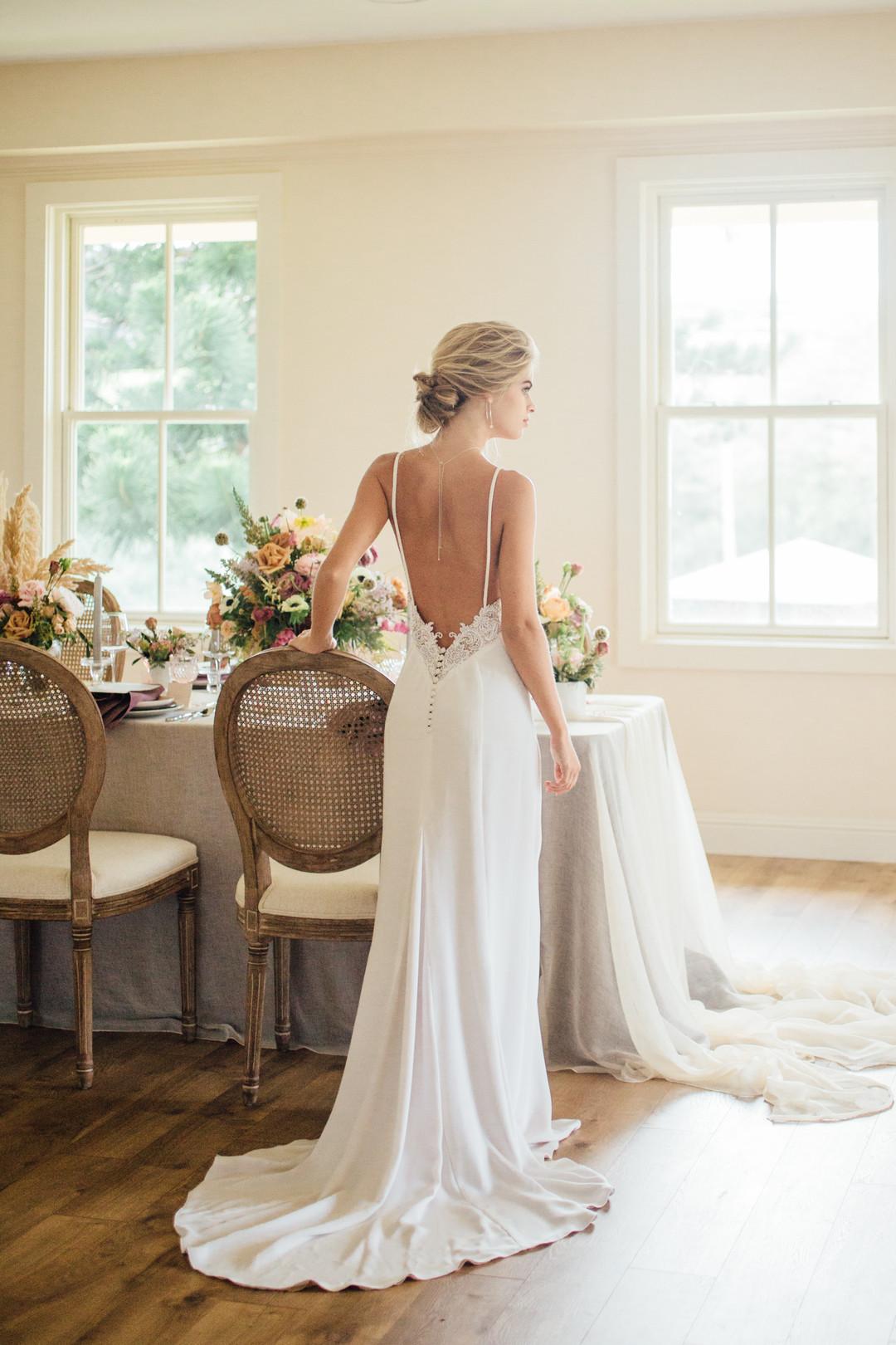 bröllop+vintage+boho+brudklänning