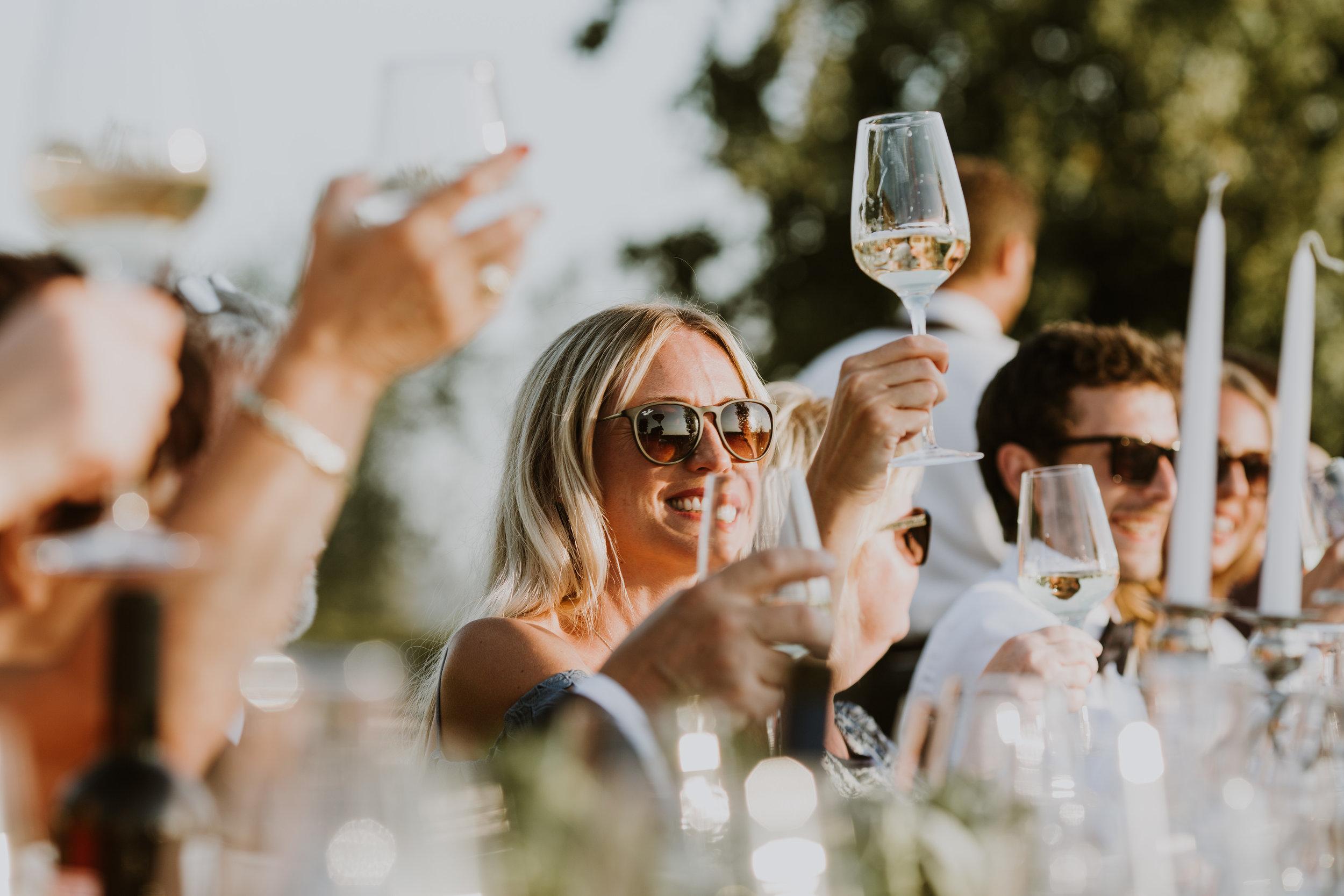 bröllopsmiddag i toscana Italien