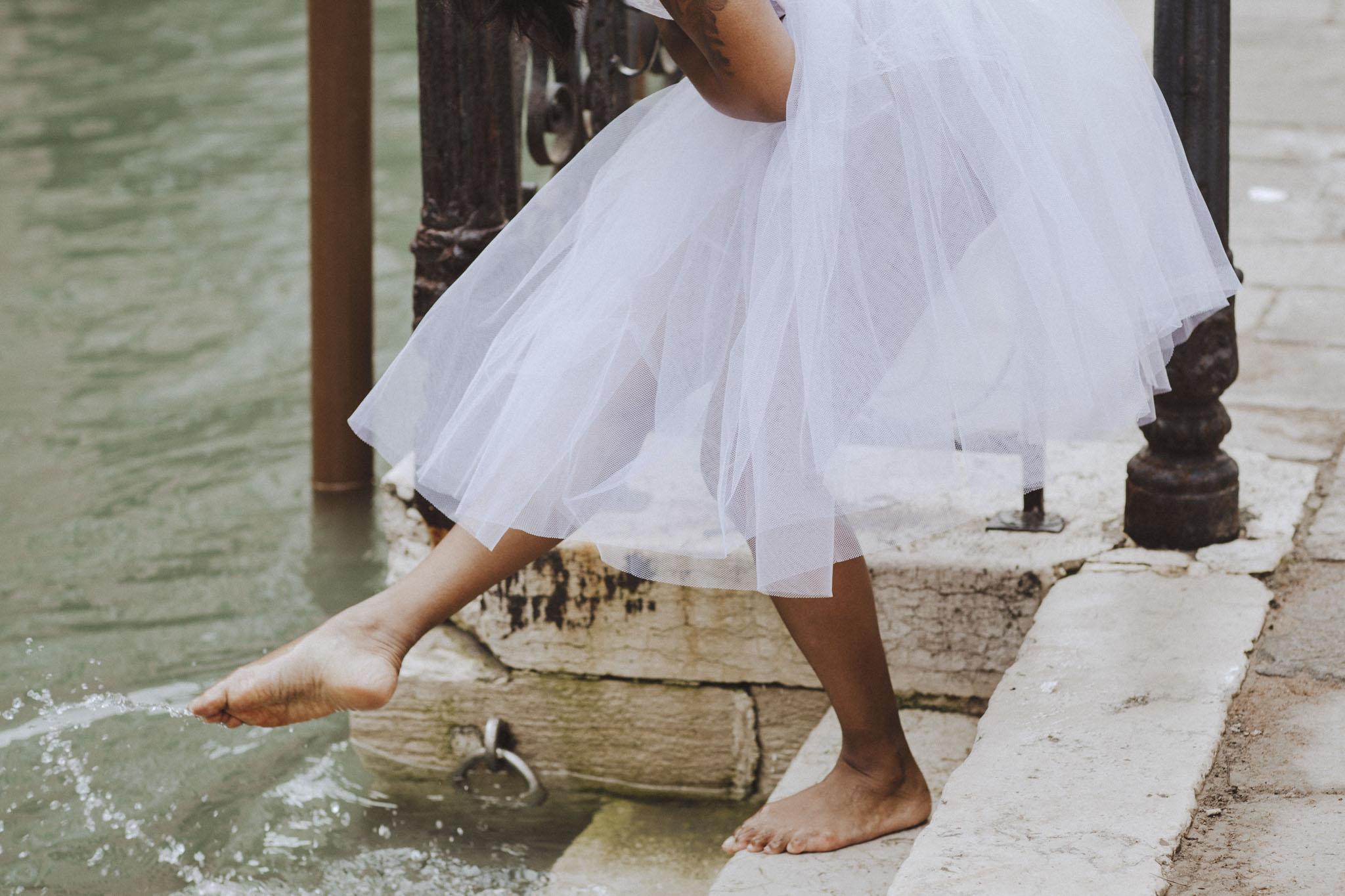 Boudoirfotografering bröllop venedig