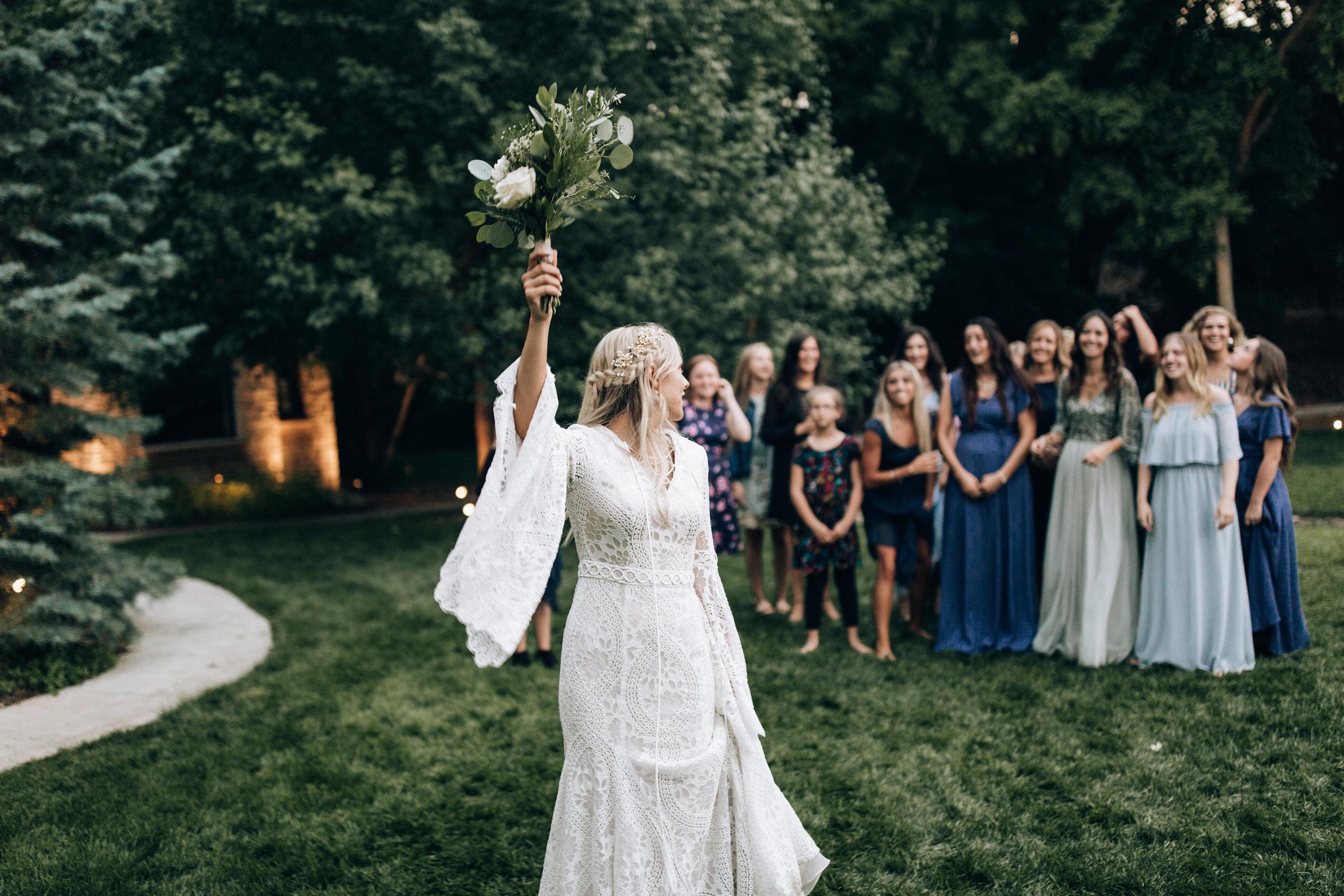 catch the bridal bouquet