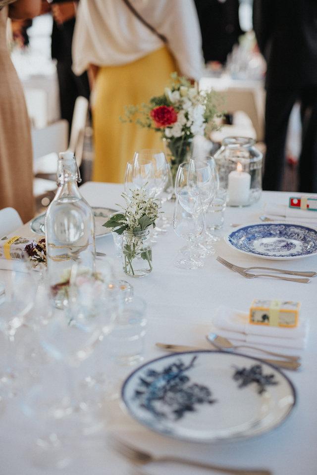 dukning bröllop vintageporslin